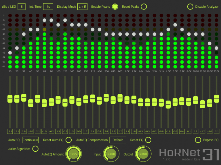 HorNet Audio Thirty One EQ