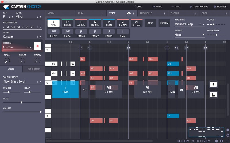 Captain Chords 3.0 interface